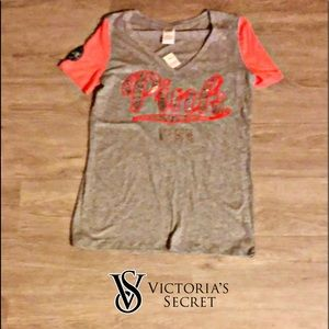 Victoria secret pink Bling T-shirt size small.